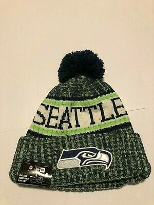 d96819996b3 Seattle Seahawks New Era Knit Hat On Field 2018 Sideline Beanie Stocking Cap  • 14.40