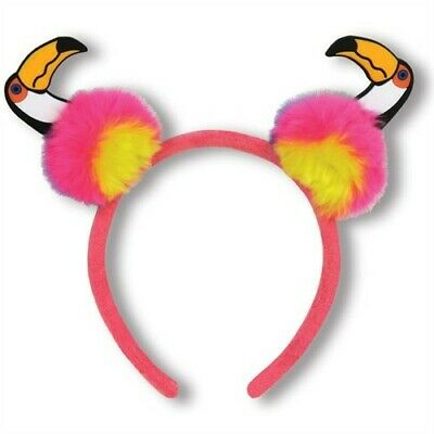Toucan Pom-Pom Headband Party Favors Decorations Luau Hawaiian Party Supplies • 4.29£