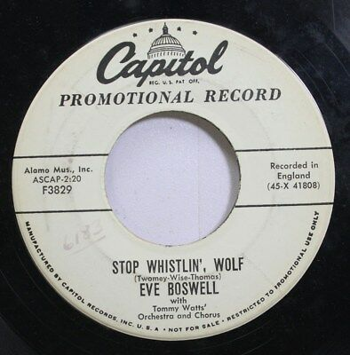 £10.75 • Buy Hear! Teen Promo 45 Eve Boswell - Stop Whistlin Wolf / Its Been A Long Time