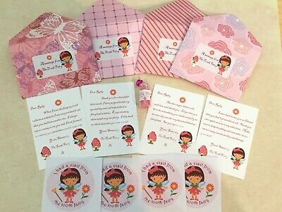 £3.99 • Buy Tooth Fairy Letters, Personalised, Fairy Dust, Stickers, New Wording