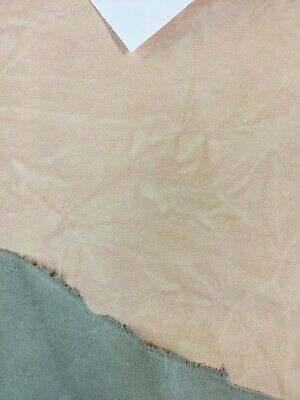 £72.99 • Buy 71 Ft2 Distressed Dusky Pink Full Leather Hide, Free P+P