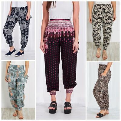 AU19.95 • Buy Caroline Morgan Harem Pants Women Casual Baggy Hippie Bohemian Yoga Beach Travel