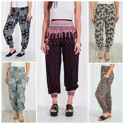 AU20.95 • Buy Caroline Morgan Harem Pants Women Casual Baggy Hippie Bohemian Yoga Beach Travel