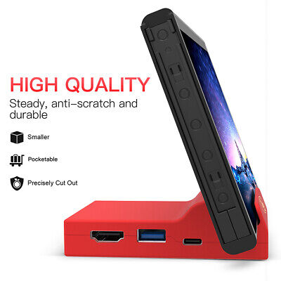 $10.99 • Buy Nintendo Switch Portable Replacement Base Docking Station Mini Cover With Screws