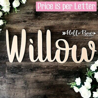 AU4.40 • Buy Large Wooden LETTERS 25cm HIGH Laser Cut Custom Name & Words PRICE IS PER LETTER