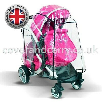 Raincover For The Hauck Duett Tandem , Made In The UK , Supersoft PVC • 23.99£