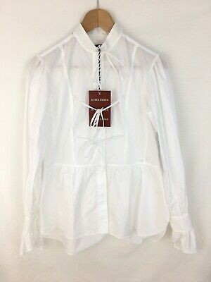 AU271.58 • Buy ALEXACHUNG Alexa Chung Tie Front Bow Blouse Shirt - White UK6/IT38 RRP £245 New