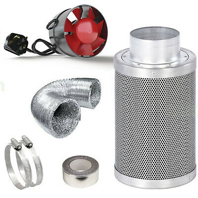 £39.99 • Buy Virgin Carbon Filter Kit Odour Extraction Fan Hydroponic Aluminium Ducting