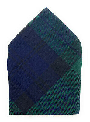 Black Watch Tartan Pocket Square Avaiable In 2 Sizes • 3.45£