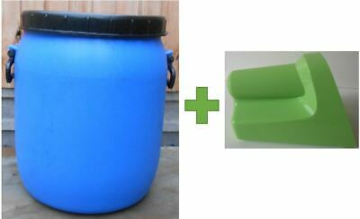 £18.50 • Buy Plastic Barrel, Water Butt, Storage Barrel With Lid, Feed Bins 50Ltr With Scoop