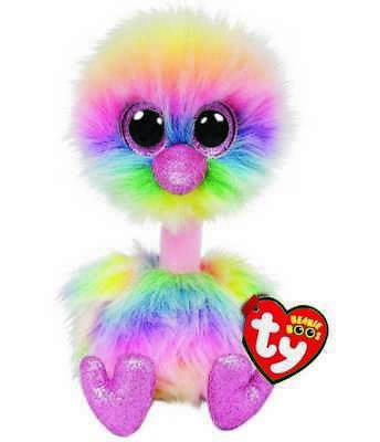 $9.95 • Buy TY Beanie Boos 6  ASHA Rainbow Ostrich Plush Stuffed Animal Toy MWMTs Heart Tags
