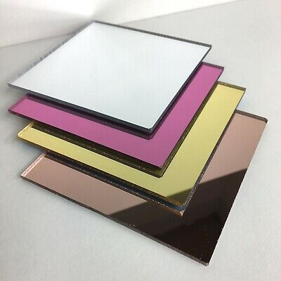 Acrylic Mirror Sheet Perspex Rose Gold Silver Pink Mirror Cut To Size Plastic • 18.30£