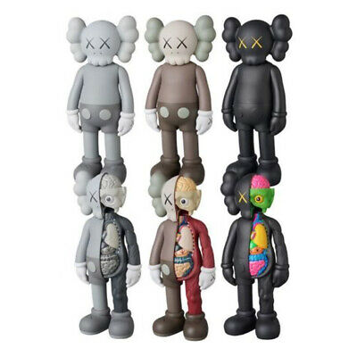 AU14.98 • Buy KAWS Half Dissected Companion Flayed Open Black Gray 8  Action Figure Kids Toys