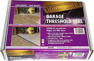 £37.04 • Buy Garage Floor Gap Seal Threshold For Up And Over Hinged Rolled Doors Stop Leak