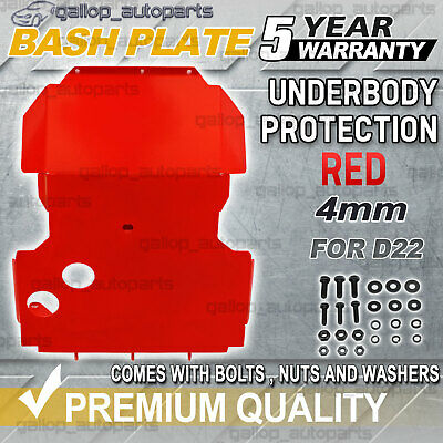 AU137 • Buy Red Bash Plate Front Sump Guard For Nissan Navara D22 2002-2015 4mm