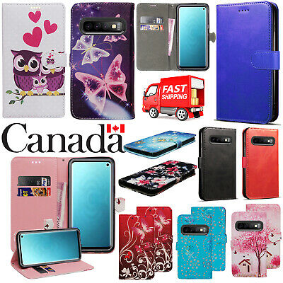 $ CDN5.99 • Buy For Samsung Galaxy S6 S7 Edge S8 S9 Plus S10 Plus Flip Leather Wallet Cover Case