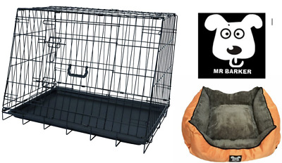 £49.95 • Buy Folding Sloped Front Car Transport Dog Cage 30 Puppy Crate (plus Supersoft Bed)