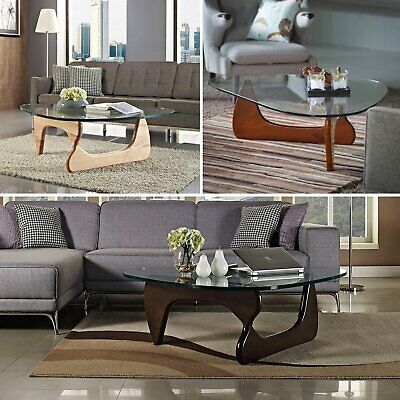 $359.99 • Buy Noguchi Style Coffee Table In Walnut Cherry Natural Isamu Triangle Wood Base