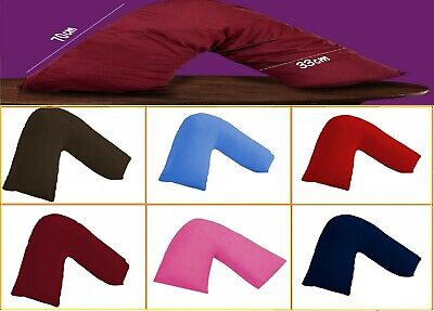 V Shaped  Pillow Cases Poly Cotton Orthopedic Pregnancy Body Support Covers • 2.99£