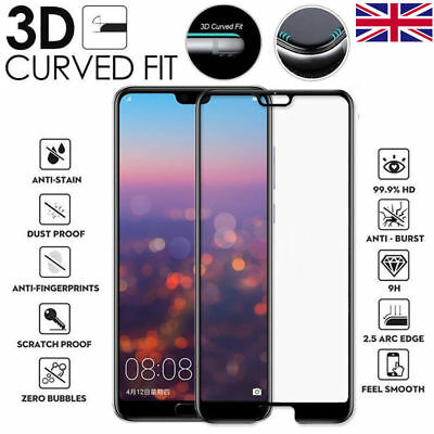 For Huawei P20 Lite Pro Genuine Full 3D Tempered Glass 9H Screen Protector Cover • 2.95£