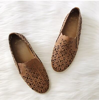 c0503aa76c87 Anthropologie Aerin Tan Cut Out Slip On Shoes 6 6.5 • 13.50