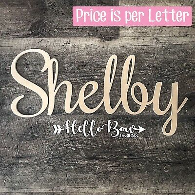 AU6 • Buy MDF LETTERS 30cm HIGH CUSTOM WORDS NAMES PERSONALISED BABY KIDS NURSERY