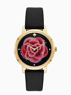 $ CDN93.93 • Buy Kate Spade New York Embroidered Rose Leather Strap Watch KSW1459