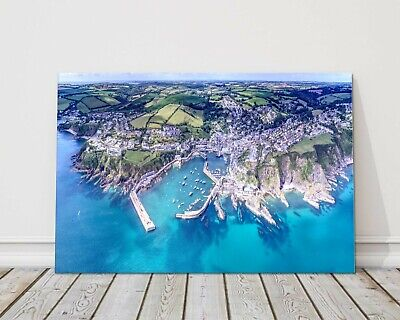 £29.95 • Buy Mevagissey, Cornwall - Aerial View. Harbour Canvas Print Framed Picture Wall Art