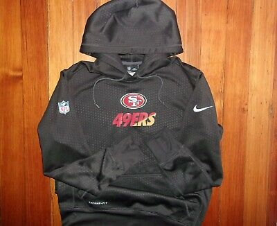ccb1099f6 Nike NFL San Francisco 49ers Therma-Fit On Field Hoodie Sweatshirt M -NEW-