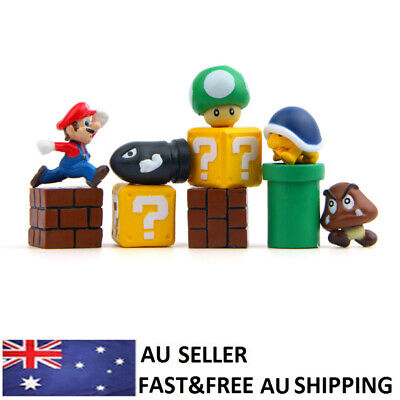 AU12.18 • Buy Super Mario Bros Game Action Figure Doll Toy Kids Xmas Gift Cake Toppers 10PCS