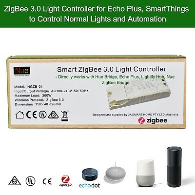 AU50 • Buy  Echo Plus Philips Hue Bridge Compatible Smart ZigBee 3 Light Switch Controller