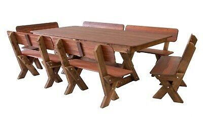 AU2740 • Buy OUTDOOR FURNITURE New Timber Outdoor Setting Seats 12 (orders Only)