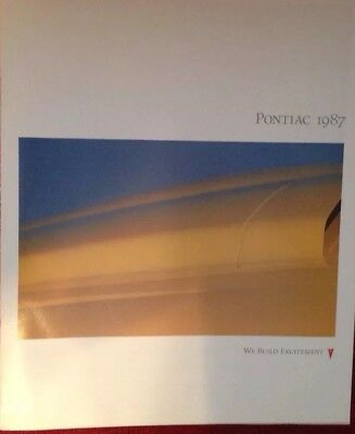 $4.50 • Buy 1987 Pontiac Brochure Firebird Trans Am Fiero GrandPrix Bonneville 6000