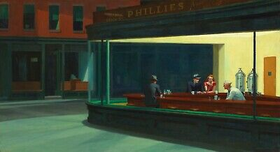 £11.99 • Buy Nighthawks Painting - Edward Hoppers Iconic History Art Poster / Canvas Pictures