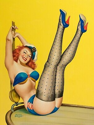 £15.29 • Buy Sexy Nude Women Pin-Up - Sailor Cartoon Painting Art Poster / Canvas Pictures