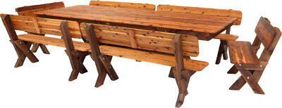AU2490 • Buy OUTDOOR FURNITURE New Timber Outdoor Setting Seats 16 (orders Only)