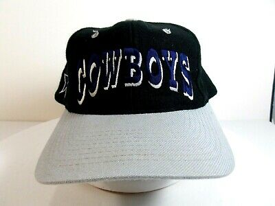 dd58e7a72c642d Vintage Dallas Cowboys Snapback Hat Cap Team NFL Black And Gray • 9.99$
