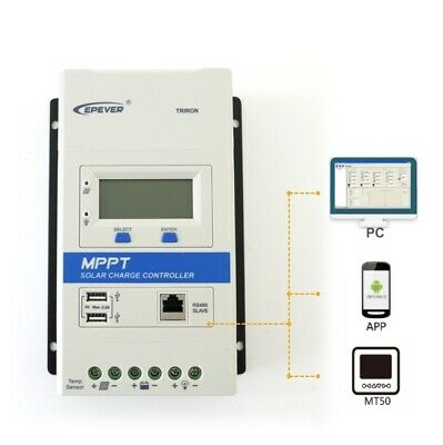 EPEVER TRIRON MPPT Solar Charge Controller 10/20/30/40A, With Dual USB Ports • 69.99£