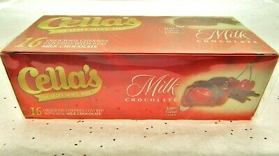 $17.95 • Buy Cella's Chocolate Covered Cherries ~ Clear Liquid Center ~ Milk Chocolate Candy