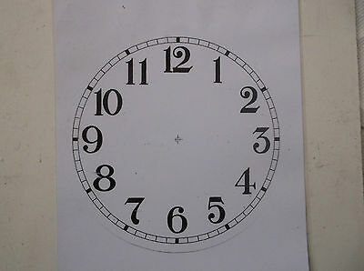 £4.99 • Buy Round Paper Laminated Clock Dial-6 1/4   Gloss White-Face