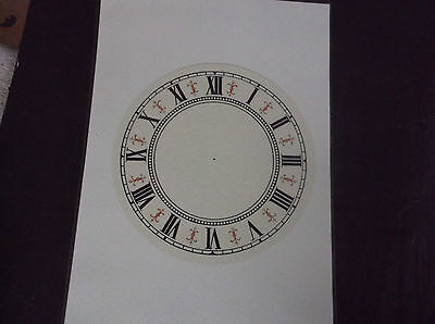 £4.99 • Buy Paper Vienna Style Laminated Clock Dial-6 1/4  Diam White Face