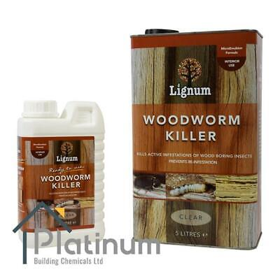 LIGNUM Woodworm Killer Spray   Ready To Use Timber Wood Treatment Insecticide • 23.25£