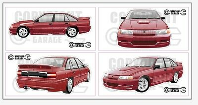 AU7.80 • Buy New! Collectable VN SS Group A Holden Commodore Large Sticker Set