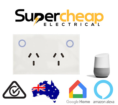 AU50 • Buy Google Alexa Smart Home Automation WIFI LED Switch Power Point Socket GPO