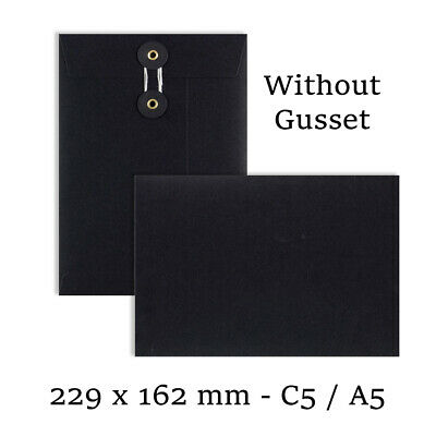 £39.99 • Buy C5 Size Quality String & Washer Black Color Envelopes Button-Tie Cheap