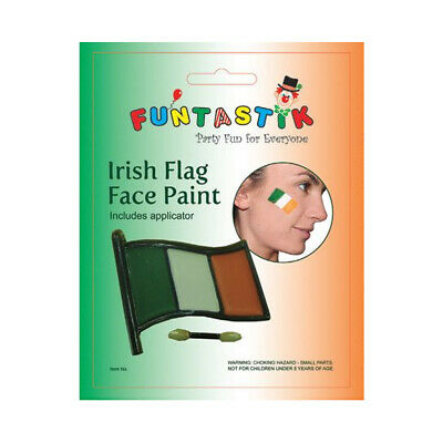 £2.80 • Buy Irish Flag Make Up Accessories St. Patrick's Day Fancy Face Paint Applicator Set