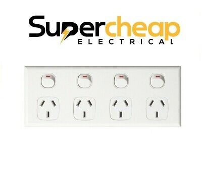 AU30 • Buy Quad 4 Gang Power Point Outlet Socket GPO