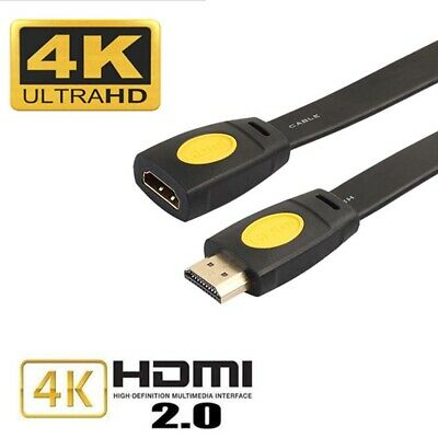 AU8.49 • Buy HDMI Extension Cable Male To Female Lead V2.0 3D 4K For PS4 Xbox HDTV 0.5-5M AU