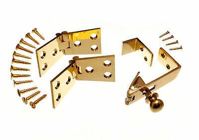 2 Pairs Of Brass Counter Flap Hinges 1 1/4 Inch X 4 Inch +  2 X Counter Catch • 29.86£
