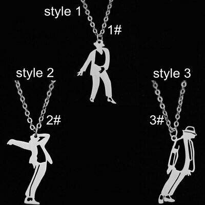 £10.53 • Buy  Michael Jackson Pendant Necklace Stand Up Dance Stainless Choice Of Style